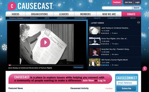 Causecast website