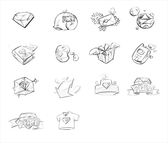 简笔画 设计 矢量 矢量图 手绘 素材 线稿 700_595