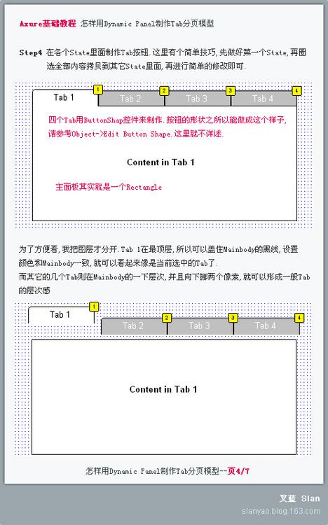[原创]Axure基础教程 用Dynamic Panel制作Tab分页模型 - slan - GUI