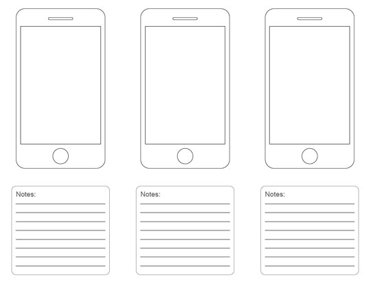 printable wireframing templates